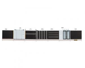 河北立式自动板内、板外合片多功能中空玻璃生产线(三毛刷、自动合片、板压)